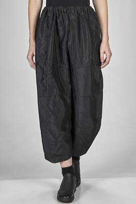 wide trousers in shinny washed and wrinkled techno fabric of polyester  - 48