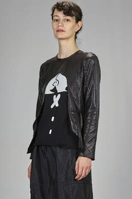 hip length t-shirt in leatherette of polyester and nylon - COMME DES GARÇONS