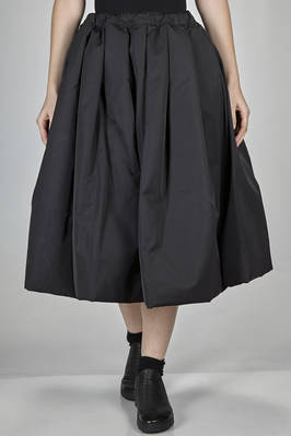 calf length skirt in polyester canvas padded with down and feather  - 157