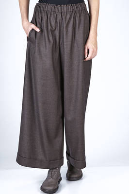 wide trousers in wool houndstooth  - 195