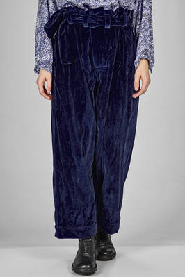 wide trousers in smooth velvet of washed cotton  - 195