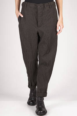 trousers in very soft and washed cloth of melange new wool with parts in cotton and polyamide  - 161