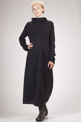 long dress in melange new wool knitting  - 161