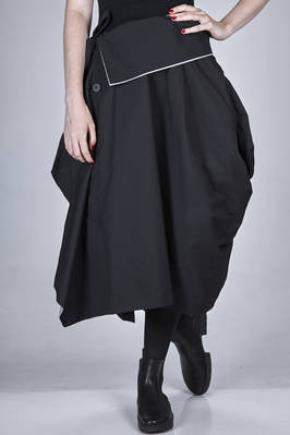 'sculpture' skirt double in a soft polyester 'swell' of two different colours in/out  - 47