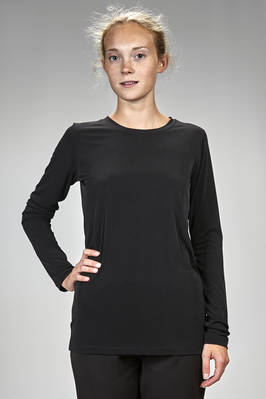 hip length t-shirt in polyester and elastane jersey  - 364