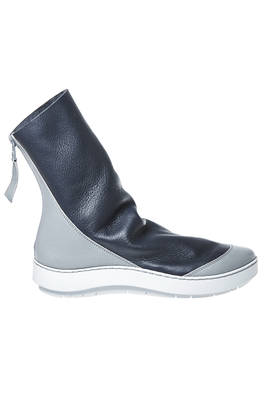 SHOVEL ankle boot in soft hammered cowhide leather and shinny cowhide leather, unlined  - 51