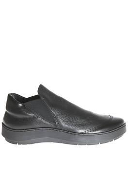 flat BUCKET shoe in soft hammered cowhide leather and shinny cowhide leather, unlined - TRIPPEN