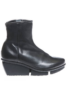 FORCE ankle boot with heel in smooth and hammered cowhide leather  - 51