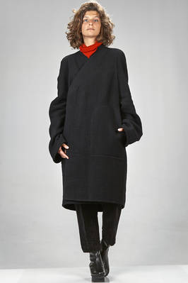 over sized coat in super soft cashmere double cloth  - 120