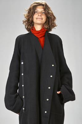 over sized coat in super soft cashmere double cloth - RICK OWENS