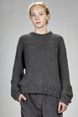 long and wide sweater in cashmere knitting  - 366