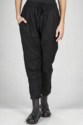 soft trousers in washed new wool gauze  - 366