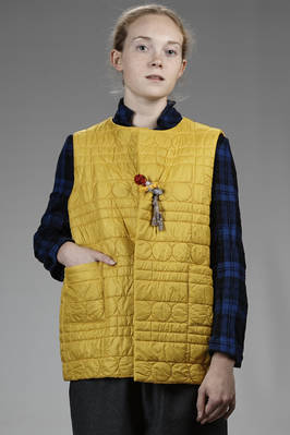 hip length waistcoat in polyamide quilted in wool  - 195
