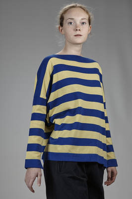 hip-length sweater in stripes cashmere stockinette stitch - DANIELA GREGIS