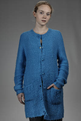 long and wide cardigan in knitted silk  - 195
