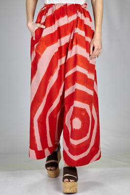 Wide leg psychedelic polygon painted cotton seersucker trousers  - 195