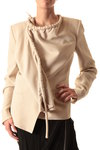 drawstring neck jacket  -