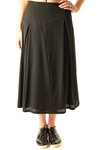 abstract cuts flared wool gabardine skirt  -