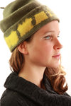 printed boiled wool beret  -