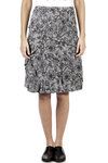 Prince of Wales pattern with flowers printed skirt  -