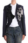 wool twill tailcoat with embossed patch appliqué  -
