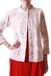 polka dot embroidery cotton jacket  -