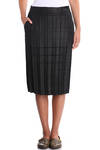 pleated sheath skirt  -