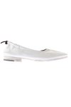 white soft leather ballet flat  -