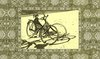 'old bicycles on the beach' printed scarf  -