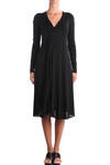 front pleated detail cotton jersey dress  -