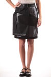 sheath skirt with PVC band appliqué  -