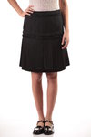 a-line skirt with pleated bands  -