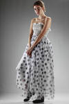 full lenght polka dot dress  -