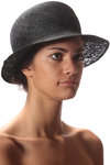 double sinamay hat  -
