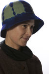 tye and dye bell-hat  -