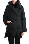 padded wool coat  -