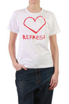 'heart and refresh' t-shirt  -