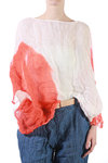 red stain printed blouse  -