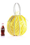 lengthened pumpkin shape shoulder bag  -