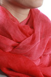 shaded colour print cashmere and silk shawl  -