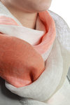 bands design linen gauze shawl  -