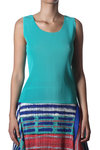 small pleated polyester sleeveless top  -