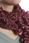 bunch of grapes effect shot polyester scarf  -