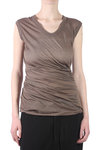 cotton jersey long top  -
