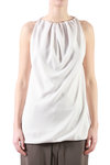 silk crepe sleeveless top  -