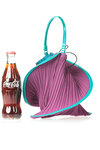 spiral shape small bucket bag  -