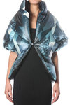 down padded printed nylon stole  -