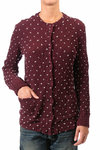 polka dot design cardigan  -
