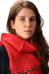 silk ribbon and wool yarn woven stole  -
