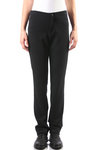 stitched jersey slim trousers  -